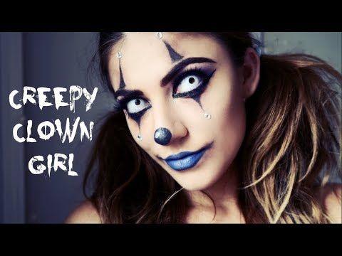 Creepy Clown Girl Makeup Tutorial #makeup #halloween