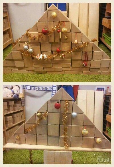 Bouwhoek kerstmis kerstboom