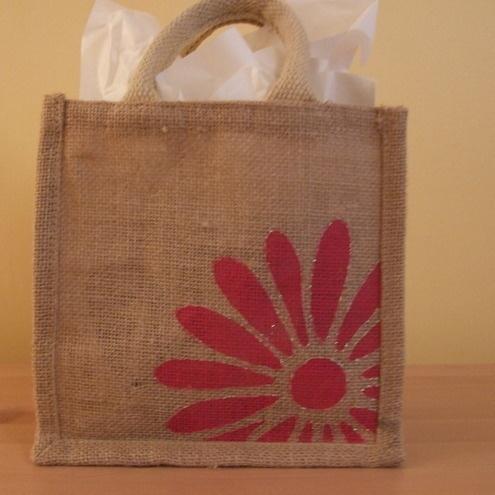 Mini Jute Bag Daisy Folksy
