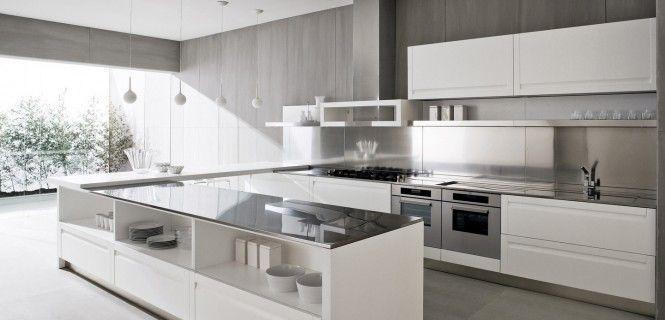contemporary grey/white kitchen design