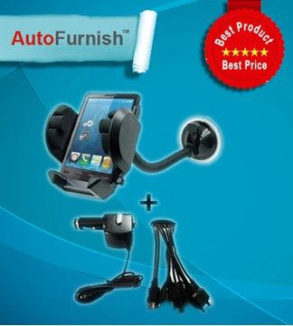 Autofurnish Car Mobile Combo - Stand, Charger