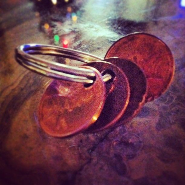 "I tear up every time I see this, so had to pin it...  Quote: ""The morning of my wedding i was handed this... 4 dirty old pennies on a keyring. Each one had a significant date. 1988 for the year he was born. 1990 for the year i was born. 2010 for the year we met and became a couple. 2012 for the year we got married. I got so teary eyed when i realized the significance of this. I tied it into my bouquet and walked down the aisle with them close to me."""