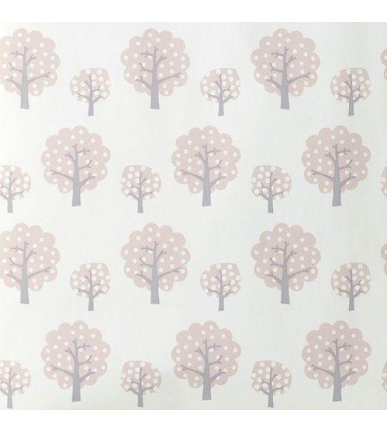 Ferm Living Behang Dotty roze papier 53x1000cm - wonenmetlef.nl