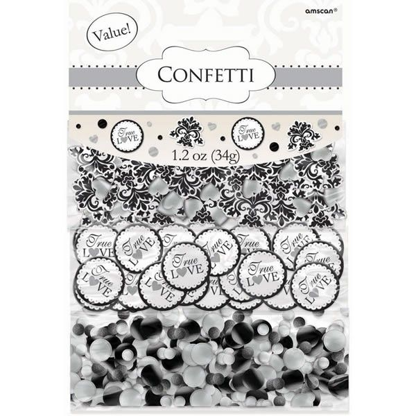 True Love Damask Party Confetti