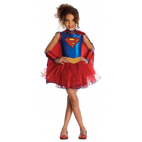 Disfraz de Supergirl con Tutú para Niña #Heroína #Superman #Supergirl #DC #Comics
