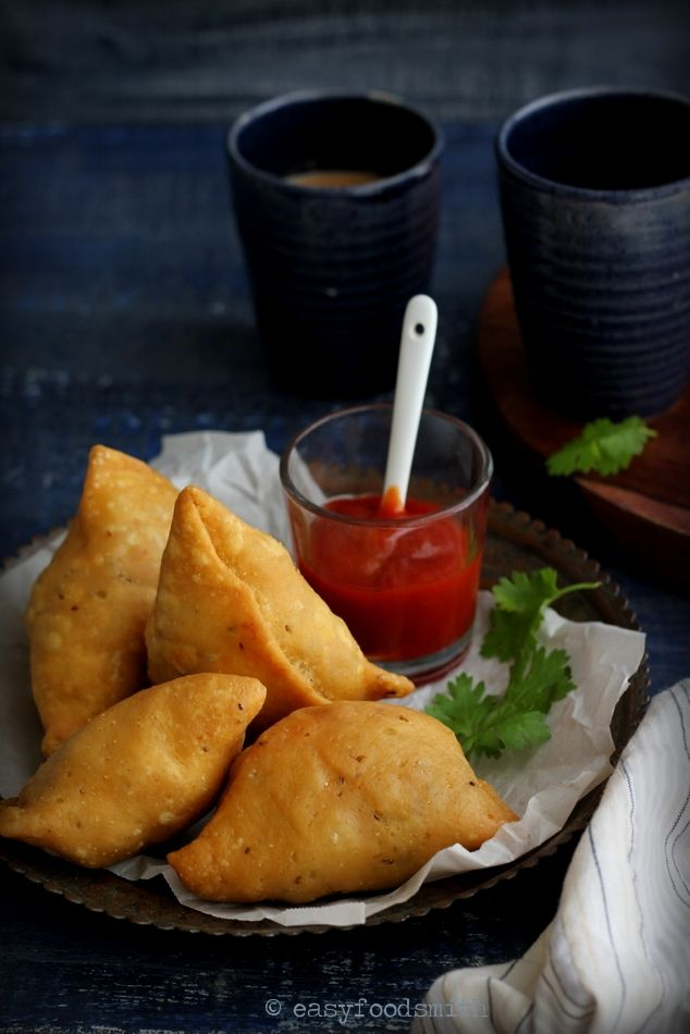 Samosa (Savory Puffed Pastry) - The ultimate street food to enjoy during monsoon and winters