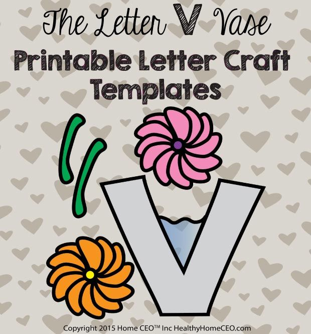 letter v craft the letter v vase printable letter craft template by home 23287 | 9493e8da10776a9978ff58320f3c237e