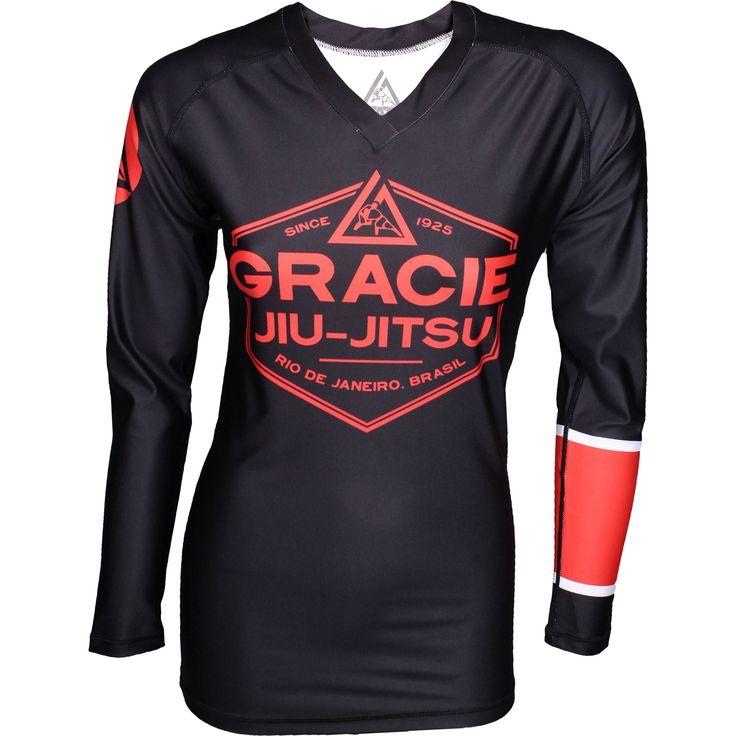 Listed Price: $54.99 Brand: Gracie Jiu-Jitsu Gracie Jiu Jitsu Womens Long Sleeve Ranked Rashguard represent your skill and passion for��_