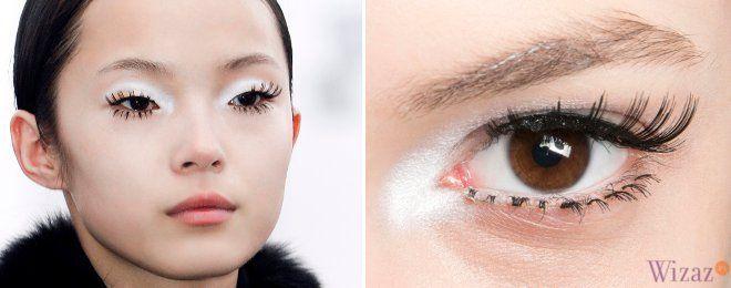 Makijaż na jesień-zimę 2013/2014 biały cień i czarne rzęsy