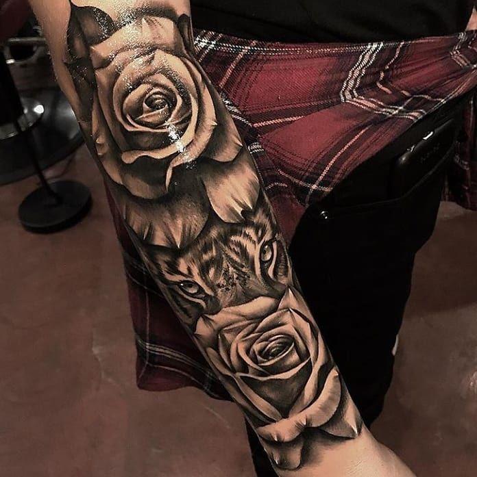 """6,795 curtidas, 32 comentários - TattoosForMen ⭕ (@tattoosformen_) no Instagram: """"Gorgeous forearm piece! Artist IG: @ebone.capone _______ ▶DM FOR SHOUTOUTS◀…"""""""