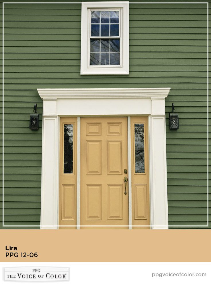 Lira yellow paint color by PPG Voice of Color.This color is a part of & 13 best Fabulous Front Door Paint Colors images on Pinterest ... pezcame.com