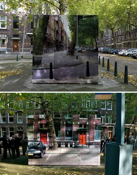 City Camouflage Buildings - great idea for hiding unsightly bathrooms, electricity substations, etc.
