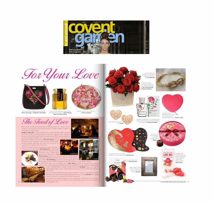 In and Around Covent Garden   For your Love.  In and Around Covent Garden magazine have featured our Valentine's Round Chocolate Gift Box, as illustrated by Nathalie Lete.