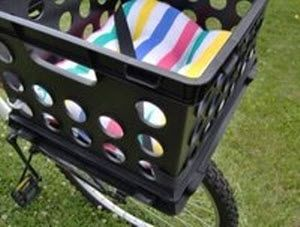 DIY Dog Bike Basket - petdiys.com