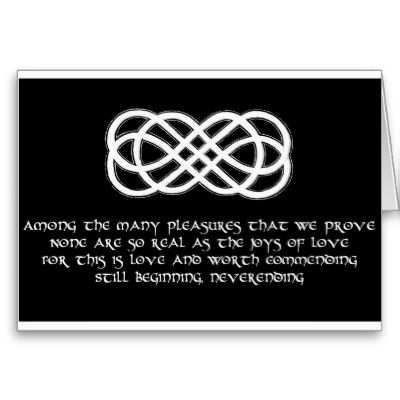 Never Ending Love Tattoo | Celtic Love by Kelly Love Knot Pendant with Heart 9mm Simulated ...