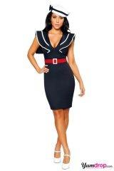 navy sailor's dress...superhot....I think I would change the hat...