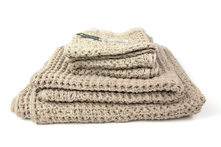 Kontex Lattice Towel, Beige – rikumo