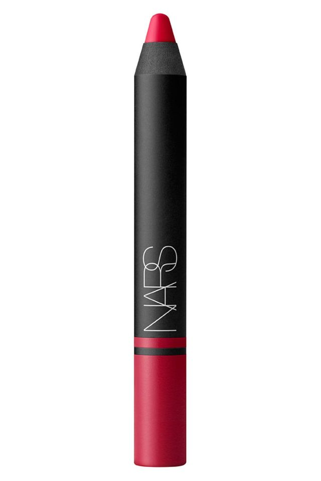 Bold lips are my favorite beauty trend, Nars satin lip pencils are one of my favorites. They are incredibly moisturizing and have a staining quality. Bold is best, especially when it lasts through lunch :)