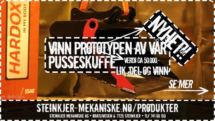 VINN prototypen av vår NYE #PUSSESKUFFE! Mer info via http://steinkjer-mekaniske.no/du-kan-vinne-var-nye-pusseskuffe