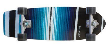 """El Carver Serape está inspirado en la manta tradicional mexicana que se usa en SoCal para los asinetos de los coches, toallas de playa, tapizar muebles... Este modelo es una de las novedades en tamaño de la marca. Con el objetivo de llenar el hueco existente entre varios modelos surge este surfskate de 29.75"""". Una tabla corta con una amplia distancia entre ejes. Sensaciones de tablas más largas pero con la ligereza y agilidad de una tabla pequeña. Inspirada en tablas cortas de surf pero con…"""