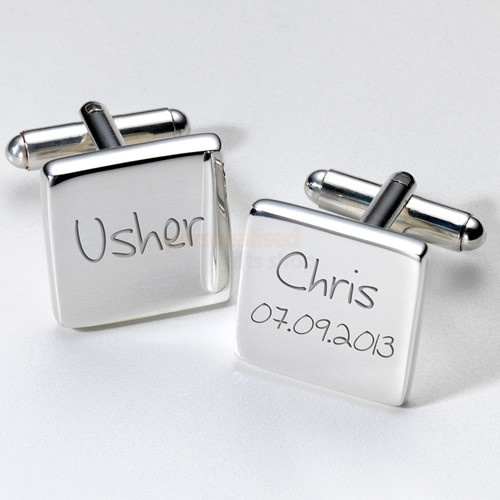 Engraved Usher Cufflinks  from Personalised Gifts Shop - ONLY £19.95