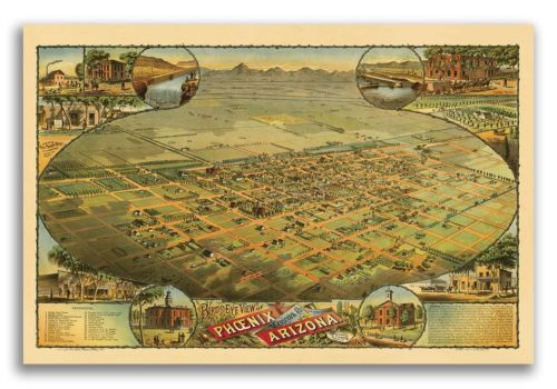 Phoenix-Arizona-1885-Historic-Panoramic-Town-Map-16x24