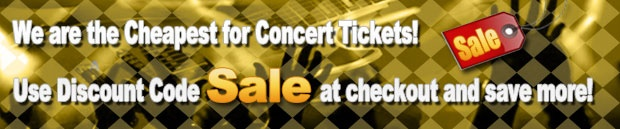 Great place to get Discount concert tickets. Use the discount code for the cheapest concert tickets around!