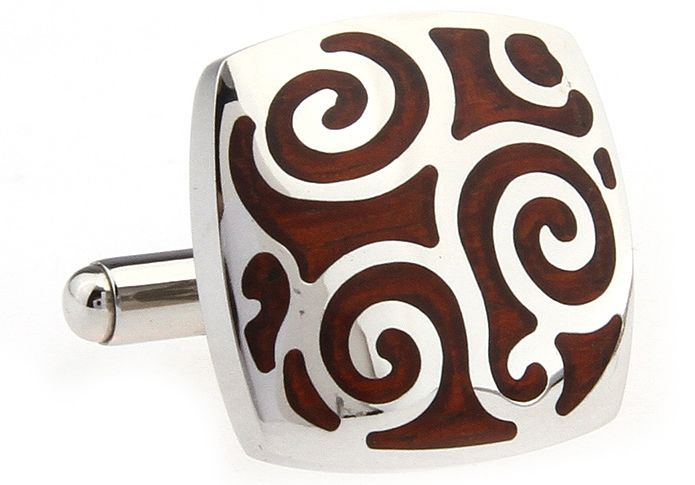 These premium cufflinks feature a classy filigree design in stainless steel and polished rosewood. They are sure to be one of your favourite cufflinks to wear. Wear them to work, to a business function, to a wedding, or even a casual night out with friends. These are the type of cufflinks that get you noticed.