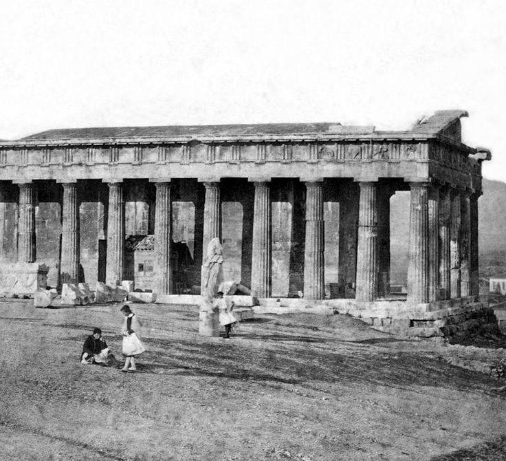 1854 ~ Θησείον. (φωτογραφία του James Robertson 1813 ~ 1888). (Άγγλου φωτογράφου).