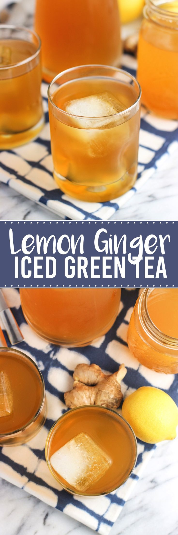 Lemon ginger iced green tea is a refreshing twist on a favorite summer ...
