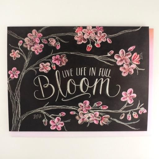 Live Life in Full Bloom Birthday Card Live Life in Full Bloom Birthday Card