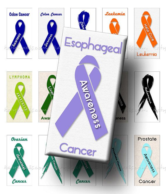 Cancer Awareness Ribbons 1x2 inch Rectangle Domino Size Digital Collage Sheet - Buy 3 Get 1 Free