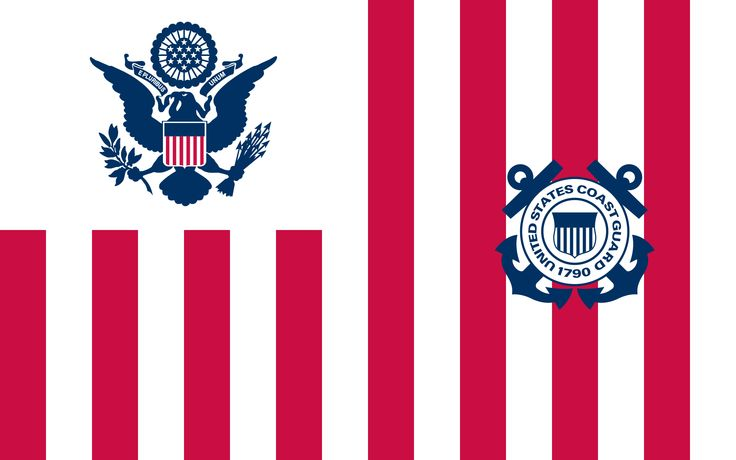 Image: Ensign of the United States Coast Guard | As a law enforcement agency authority, unlike the other branches of the United States Armed Forces, which are prevented from acting in a law enforcement capacity, the Coast Guard is exempt from and not subject to the restrictions of the Posse Comitatus Act.