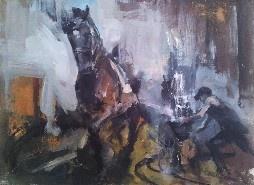 Horse appears - Acrylic on canvas - 70/55 cm