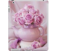 iPad Case/Skin.  #roses #pinkroses #lavenderpinkroses #pinkrosesstillliferoses #stillliferoses #rosesandteapot #teapotart #teapot #teatime #holidaygifts #floralhomedecor #victoriamagazinestyle #romantichomesstyle #floralhappiness  #floralloveliness #sandrafoster