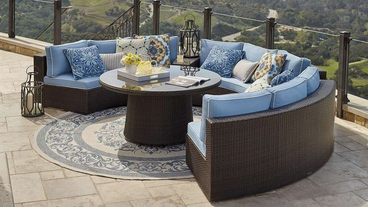 Pasadena modular outdoor collection sofa set for Pasadena outdoor furniture
