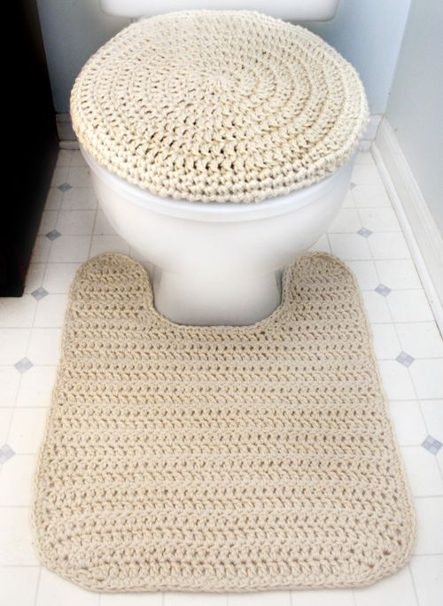 Crochet Pattern: Toilet Seat Cover and Contour Rug