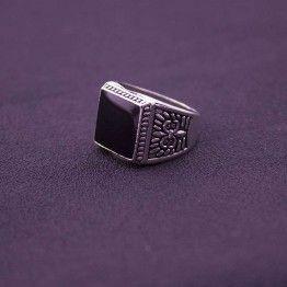 EKUSTYEE Fashion Men's Silver Bikers Wedding Ring