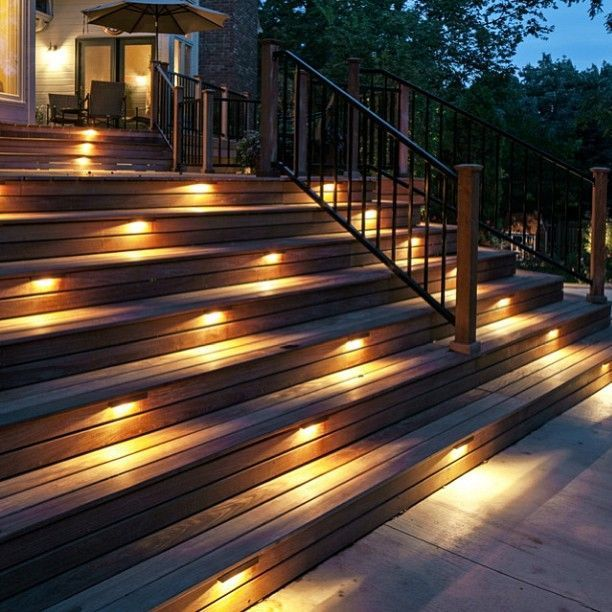 Outdoor Stair Lights Led Outdoor Stair Lights Treelifedesigns Eclairage Terrasse Escalier Exterieur Eclairage Exterieur