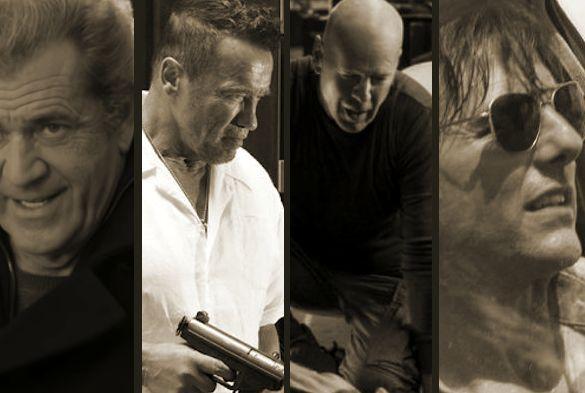 Mel Gibson, Arnold Schwarzenegger, Bruce Willis and Tom Cruise