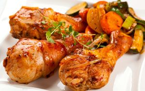Курица в медово-горчичной глазури
