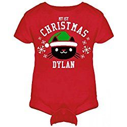 My 1st Cat Christmas Outfit For Dylan: Infant Rabbit Skins Lap Shoulder Creeper