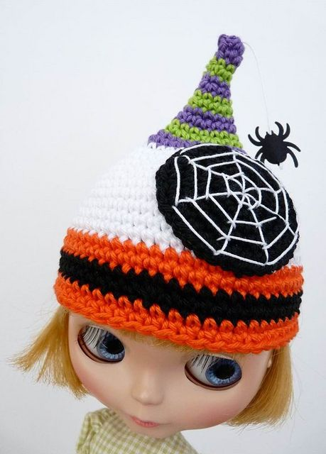 Blythe Halloween Hat #blythe #halloween #knithackerHats, Crafts Ideas, Favourite Crochethack, Blythe Dolls, Crochet Model Halloween, Crochet Amigurumi, Beautiful Blythe, Blythe Halloween, Models Secret