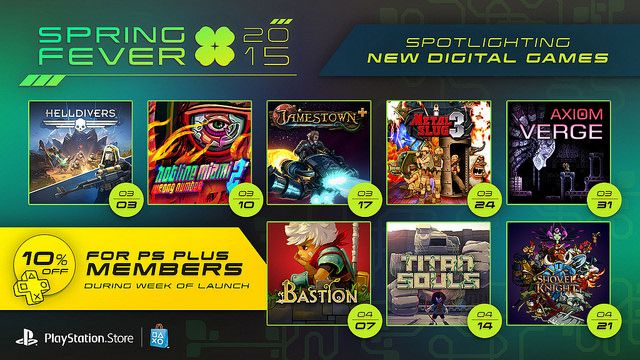 Spring Fever 2015: 8 Weeks, 8 New PS4 Games, PS Plus Discounts - http://videogamedemons.com/news/spring-fever-2015-8-weeks-8-new-ps4-games-ps-plus-discounts/