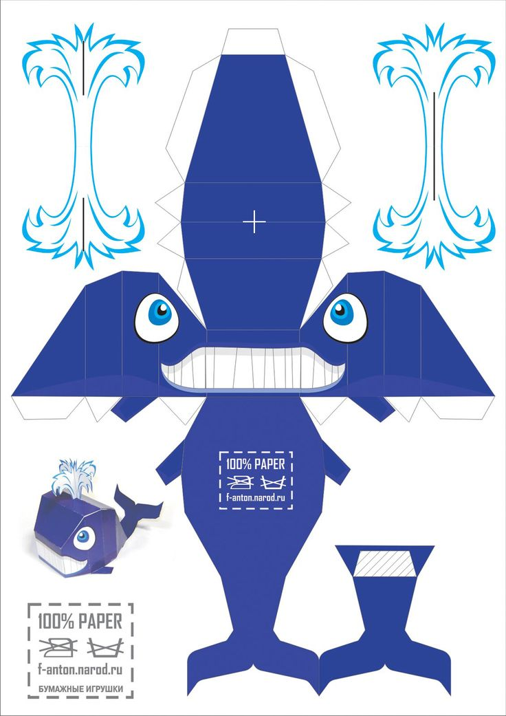 Blue whale: free printable