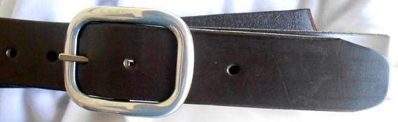 Hand Made Dark Brown Leather Belt Made in GA USA
