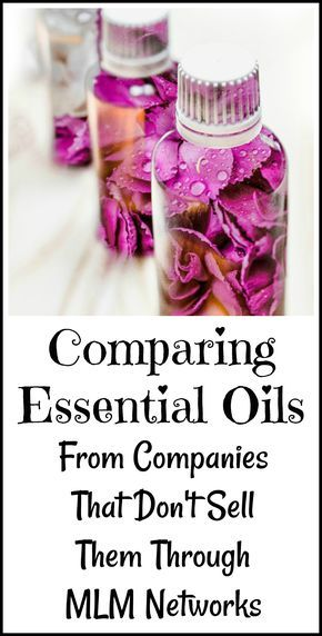 My personal experience with using essential oils that aren't  sold through multilevel marketing networks.