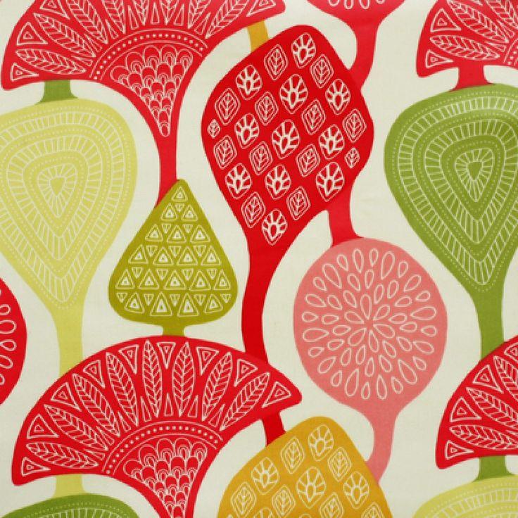 Cecilia Ruby Lime oilcloth tablecloth