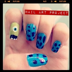 Monsters Inc #NailArt