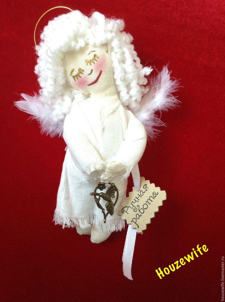 Купить Рождественский Ангел - белый, рождественский ангел, рождественский подарок, подарок ребенку, ангел текстильный